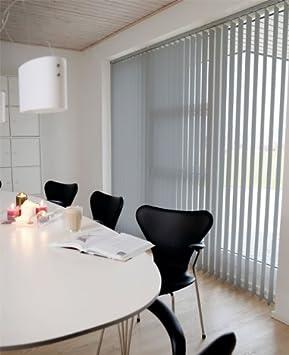 Lamellenvorhang / Vertikalanlage LINE ~ Farbe: grau ~ (BxH): 240x250 cm ~ Vertikaljalousie / Vertikalanlage ~ Lamellenbreite: