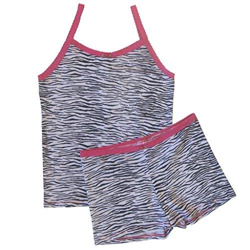 Esme Girl's Camisole and Boxer Pajama Sleepwear- 2 pc Set