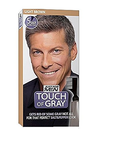Touch of Gray Men's Hair Color, Light Brown (Pack of 3) (Mens Light Brown Hair Dye compare prices)