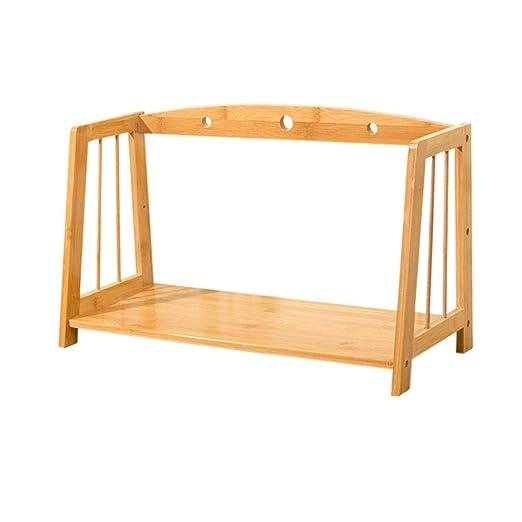 Estantería Simple sobre la Mesa, estantería de bambú para el ...