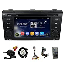 Car GPS Navigation System for Mazda 3 2004 2005 2006 2007 2008 2009 Car Stereo DVD Player 7 Inch TFT Touchscreen Monitor DVD Player / Android 4.4.4 OS Dual Core Car Multi Media Radio Video Receive DVD Player+Bluetooth SD/USB IPOD Built-in WIFI+AUX In+Free Backup Rear View Camera+Free Canada Map