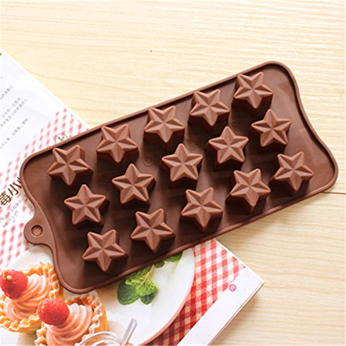 Mould Cakes Injeciton Mould Star type silicone cake Chocolate Mold Jelly Mold Cake Moulds Bakeware D552