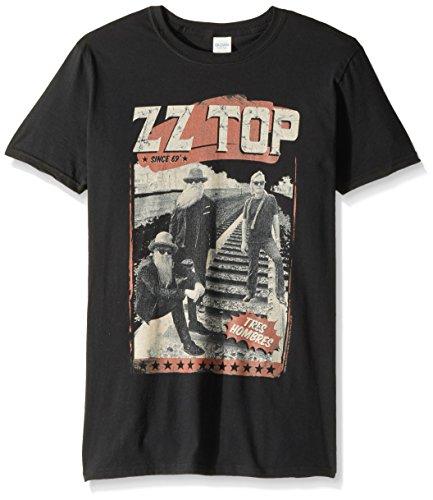 American Classics Zz Top Hombre Tracks Adult Short Sleeve T-Shirt, Black Large
