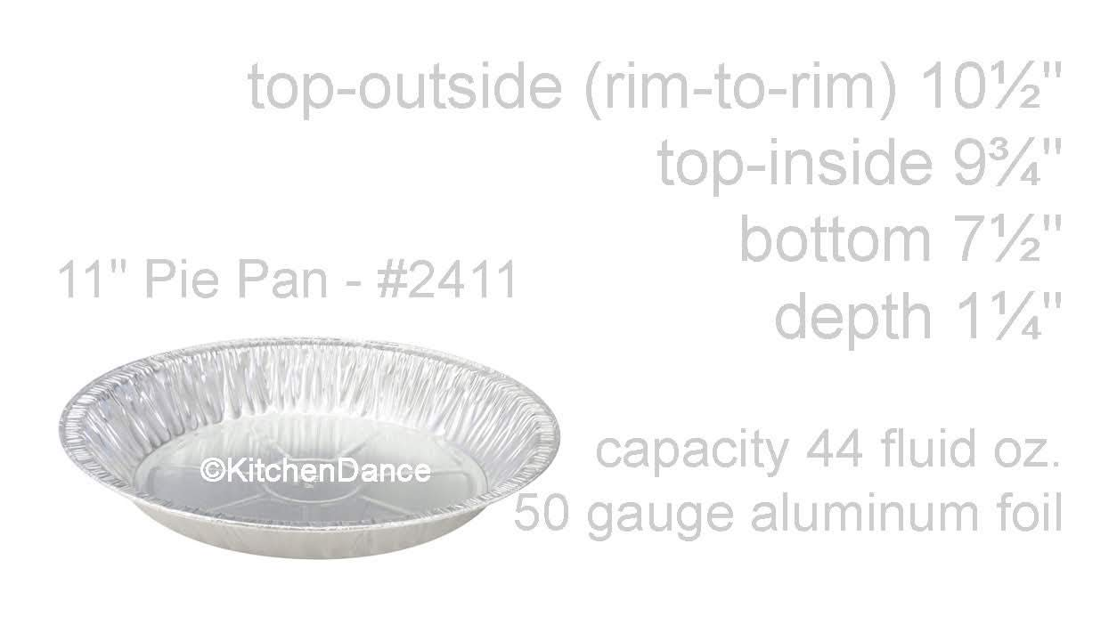 KitchenDance 11'' Large Disposable Aluminum Pie Pan #2411 (500)