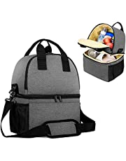 Teamoy Breast Pump Bag Tote with Cooler Compartment for Breast Pump, Cooler Bag, Breast Milk Bottles and More, Double Layer Pumping Bag for Working Moms(Bag Only)