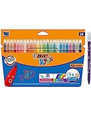 BIC Kids Kid Couleur Tuschpennor Medelstor Spets – Blandade Färger, 24-pack i Pappask