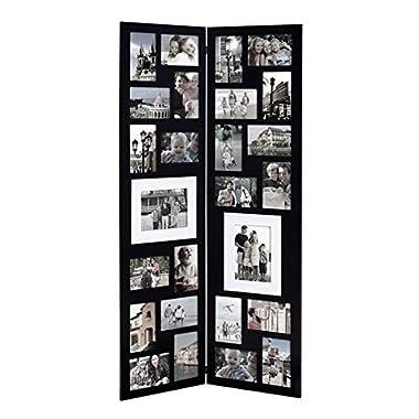 Homebeez 26 Opening Wood Half Wall Hanging Folding Photo Frame