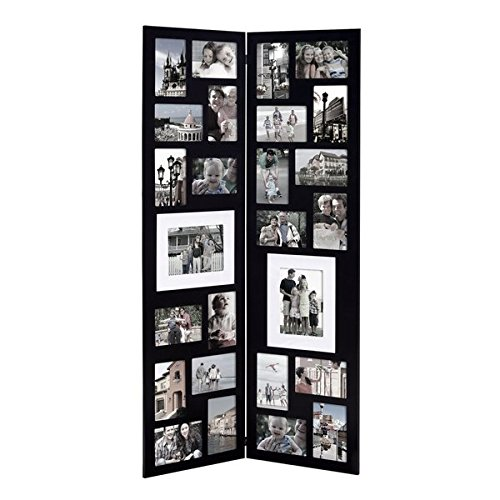 Frame Black Panel - Homebeez 26 Opening Wood Half Wall Hanging Folding Photo Frame