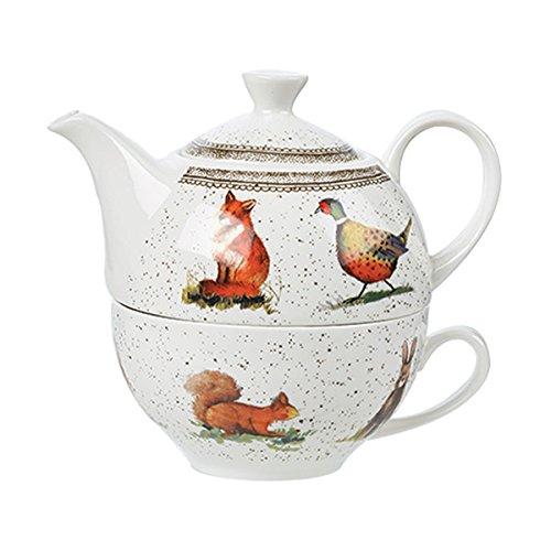 Alex Clark AC Wildlife Tea for ONE Sleeve, Ceramic, Multi-Colour, 15 x 10 x 12 cm Churchill China ACWL00141