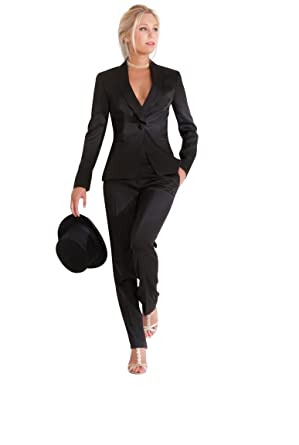 Tailleur veste pantalon noir femme