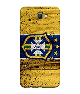 ColorKing Football Brazil 17 Yellow shell case cover for Samsung On7 Prime