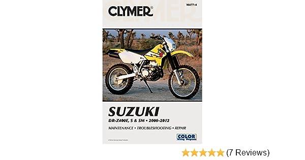 amazon com 00 14 suzuki drz400s clymer service manual misc rh amazon com 2001 suzuki drz 400 service manual suzuki drz 125 owners manual