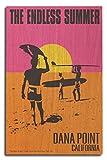 Dana Point, California - The Endless Summer - Original Movie Poster (10x15 Wood Wall Sign, Wall Decor Ready to Hang)