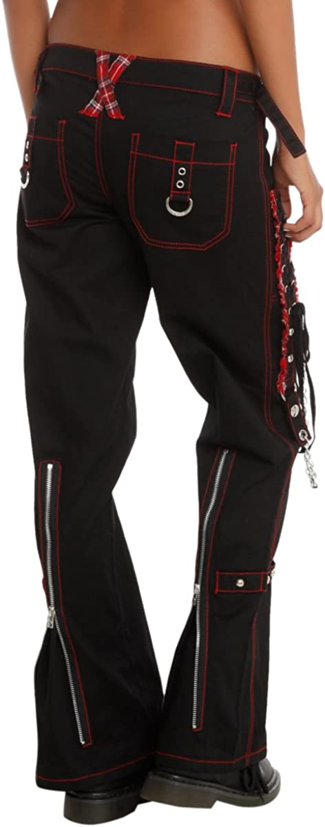 Tripp Black and Red Lace-Up Chain Pants