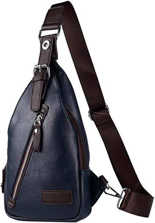 Desequilibrio De La Mochila, Anti-arañazo Impermeable Sling Bag Shoulder Pack para Hombres/Mujeres (Color : Azul, Tamaño : 16x6x31cm): Amazon.es: Hogar