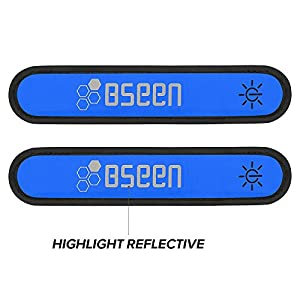 1 Pack for 2 PCS Bseen LED armband, running armabnd, led bracelet glow in the dark safety running gear.Use for all size.
