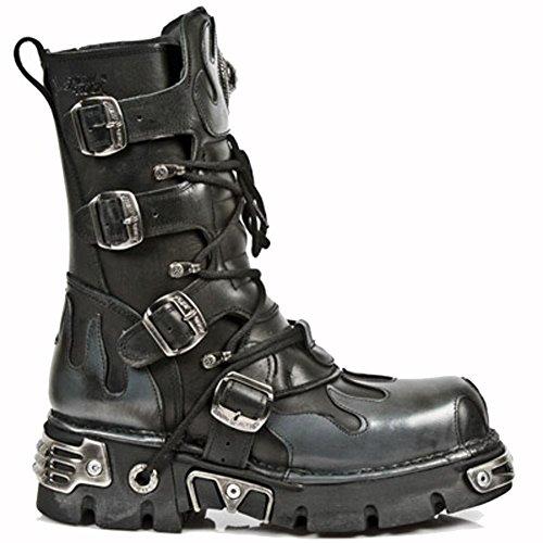 New Rock Metallic Schwarz Stiefel M.591-S2 Black