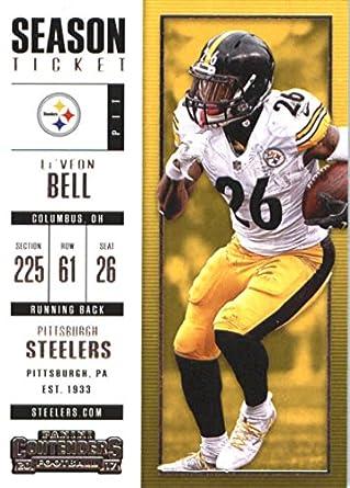 Football NFL 2017 Panini Contenders Season Ticket  47 Le Veon Bell  47 NM+ 821fa0bab