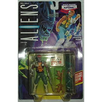 Aliens Kenner Vintage 1992 Action Figure Space Marine Sgt. Apone Grenade Launching
