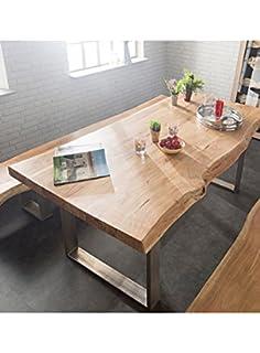 WAE tavolo in legno massello 6 CM di spessore di castagno con ...