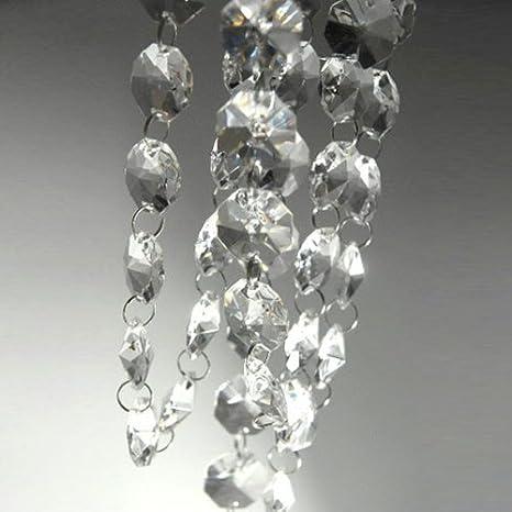 Amazon.com: 13 pies Cadena de abalorio de vidrio Guirnalda ...
