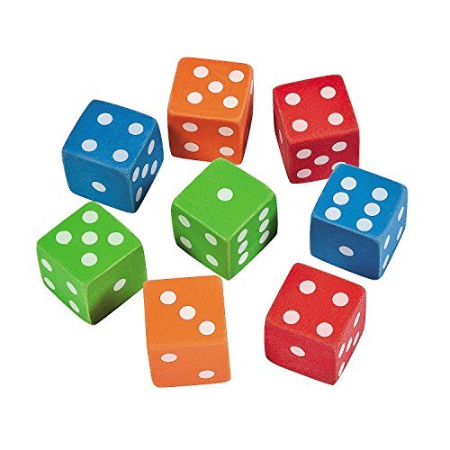 Rubber Dice Erasers (12 Pack) Stationery & Pencil Accessories ()