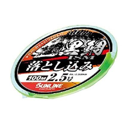 サンライン 黒鯛イズム 落とし込み 100m 2号 イエローグリーンの画像