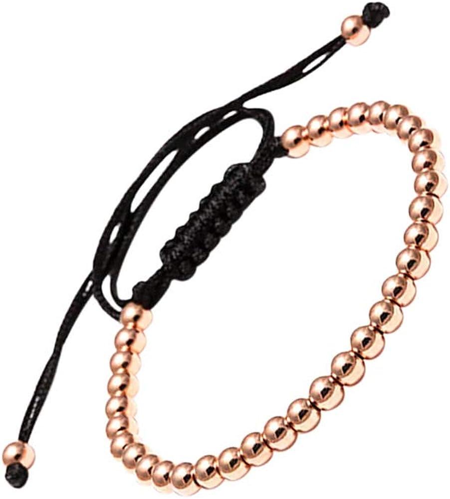 LA FALCONI Jewellery Pulsera de Bolas Roma, Pulsera Noble para Hombres y Mujeres, Pulsera de Bolas Unisex
