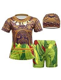 AmzBarley Maui Moana Swimsuit Boys Swimwear Swim Cap Beach Summer Clothes