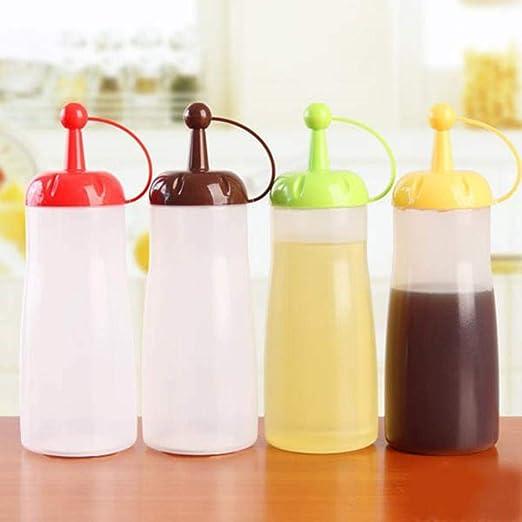 Botellas de la salsa plástico reciclado tomate rojo / amarillo ...