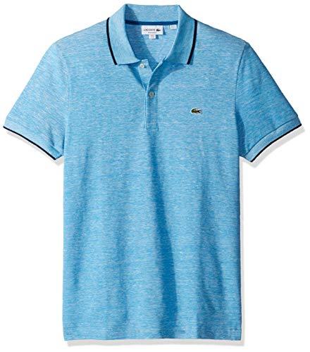 Lacoste Men's S/S Printed Pique Classic FIT Polo, Ibiza, - Mens Lacoste Shirt Polo