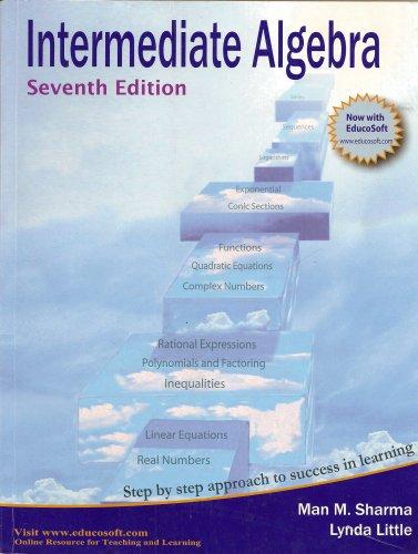 Intermediate Algebra by Man M. Sharma (2007) Paperback