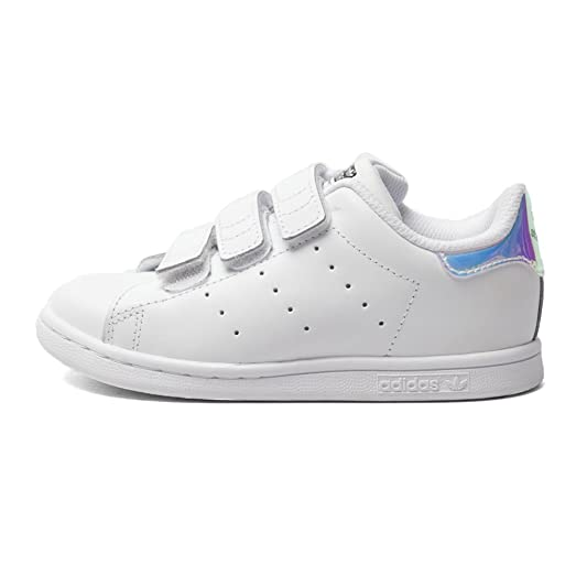 Adidas Toddlers Stan Smith CF (silver / metallic silver / footwear white)  Size 4