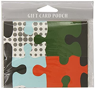 The Gift Wrap Company Metro Puzzle Fold-over Gift Card Holder (Pack of 12)