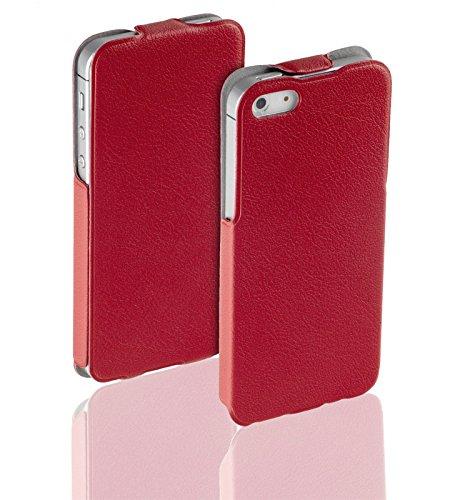 yayago Flip Tasche für Apple iPhone SE Tasche Rot