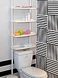 Feibrand 4 Tier Kitchen Bathroom Storage Shower Caddy Shelf Shelves Unit Adjustable Height No Screws Required