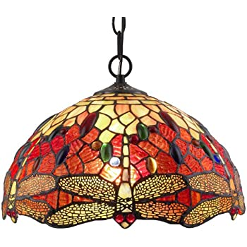 Amora lighting am1034hl14 tiffany style stained glass hanging lamp amora lighting am1034hl14 tiffany style stained glass hanging lamp ceiling fixture mozeypictures Choice Image