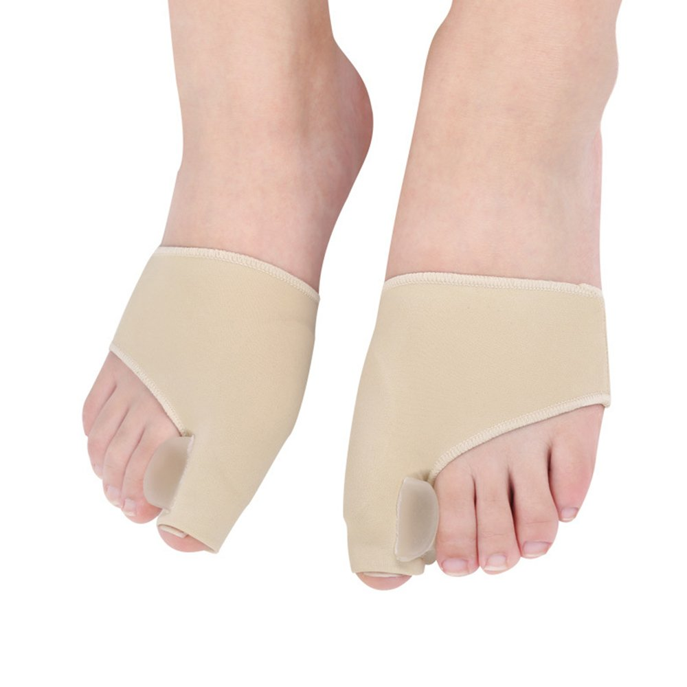 Bunion Pads, Gel Toe Pad Bunion Corrector Toe Protectors Straightener Seperators Toe Spreader 1 Pair Contever