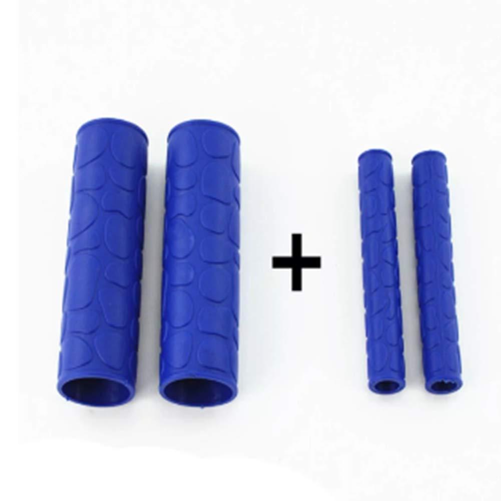 Blau JenNiFer Gummi-Handlebar Grip Cover Mit Bremskupplung Lever Cover F/ür Motorrad Bike MTB