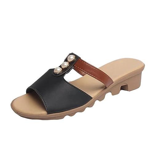 b90ff5e46cc4 Lolittas Sandals Summer Boho Beach Wedge Sandals for Women Ladies ...
