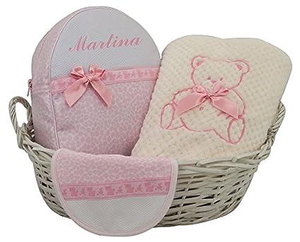 Canastilla regalo para recién nacido PERSONALIZADO CON EL NOMBRE DEL ...