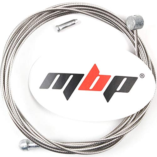 MBP Stainless Steel Double-Ended Road/MTB Bicyle Brake Cable 1.6mm x 2050mm