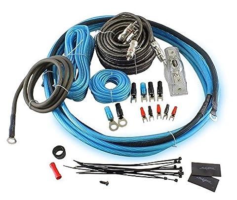Skar Audio 8 Gauge Complete Car Amplifier Wiring Install Kit (Oxygen Free Copper) with RCA's - (Ofc 8 Gauge Amp Kit)