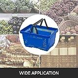 Mophorn Shopping Basket 12PCS Black Wire Basket