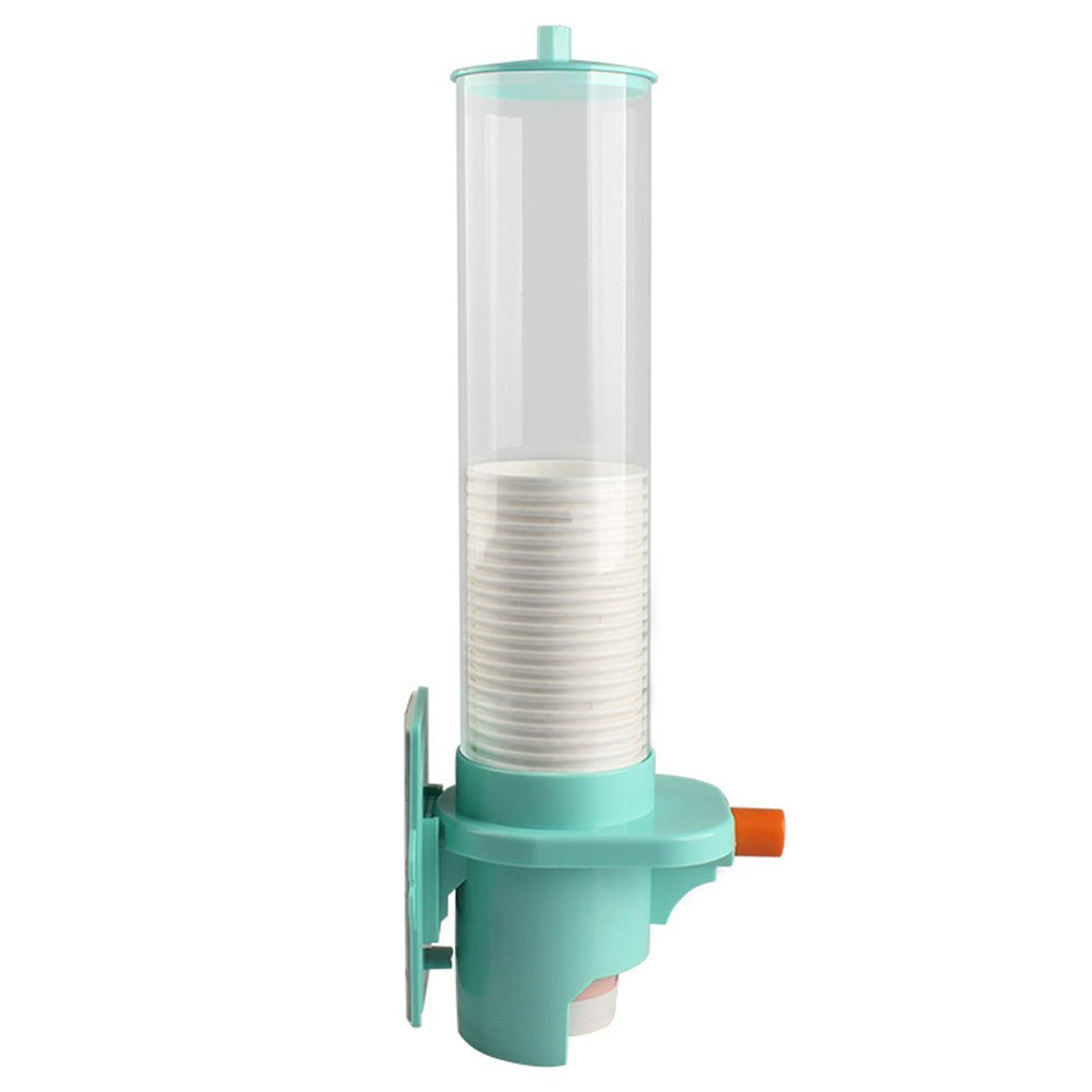 Paper Water Cup Dispenser, Automatic Surface Mount Dust-proof Cup Dispenser/Water Cup Dispenser,Yellow/Green(42.5CM,green) by GETMORE7 (Image #1)
