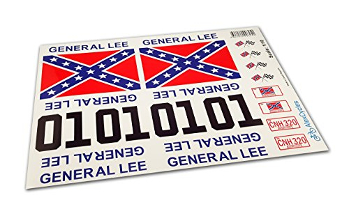 GENERAL LEE RC Car 1/10 10th Scale Duke of Hazzard Decals Stickers Full Kit Set Already (General Lee Stickers)