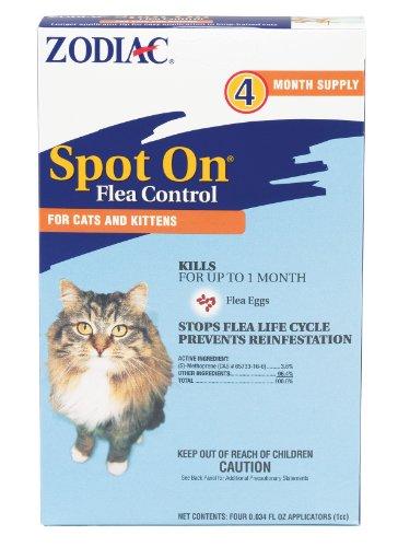 518h%2BYv7eTL - Zodiac  Flea & Tick Spot On for Cats & Kittens 4-pack