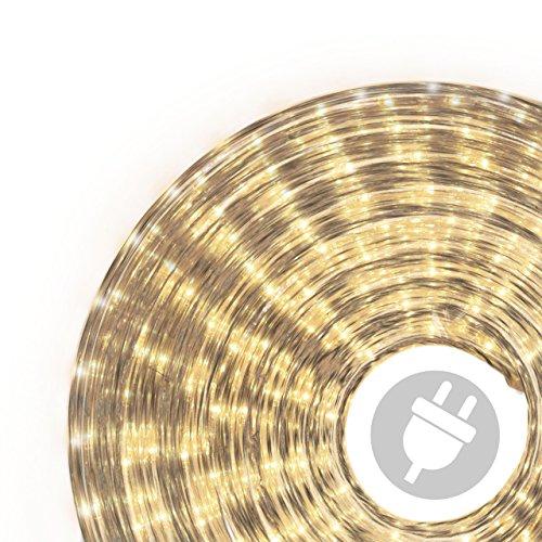 50m Microlichter Lichterschlauch Lichtschlauch warm-weiß - Innen- und Außenbereich - Licht-Dekoration für Garten Fest Weihnachten Hochzeit Gesamtlänge ca. 51,50 m