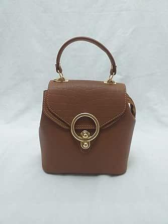 Handbag top handle and back