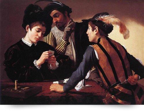 Caravaggio The Cardsharps (Giclee Art Print), Leo KL